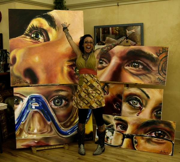reflections of the soul oil paintings by jo harrison based in