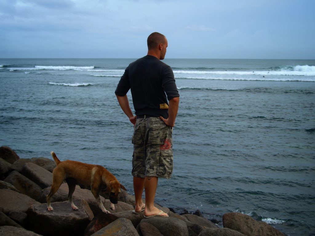 Deciding whether to paddle back out or not. Somewhere in Bali, 2008.